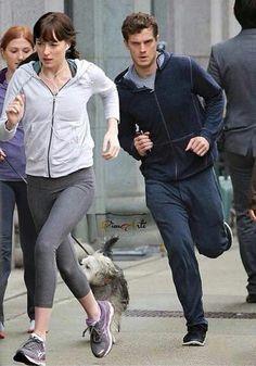 Christian and Ana. Jamie Dornan and Dakota Johnson Fifty shades of grey movie