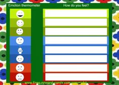 Emotion thermometer pictograms