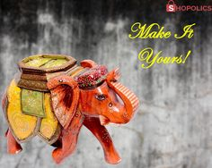#Shop #Mangowood#Yellow #Elephant #Sculpture:The particulars of this #elegant #wooden elephant #statue can be stated as: #Weight : 869 g, #Dimensions : 15 in, #Material : Mango #Wood, #Color : Yellow Shop now:  https://goo.gl/rEXQo3