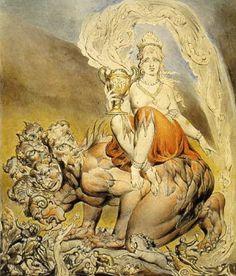 The Whore of Babylon by William Blake, 1809. Revelation 17:3