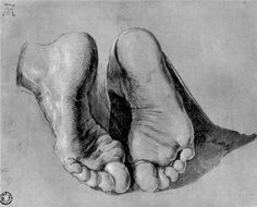 Albrecht Durer - Feet of an Apostle.