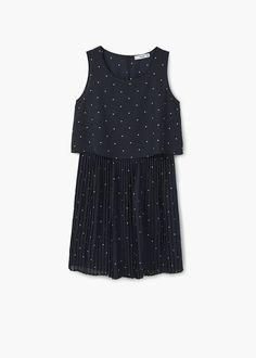 Pleated hem dress | MANGO