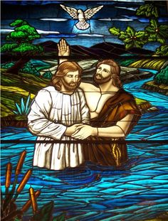 stained glass jesus baptisim - Bing Images - I would love to go to where Jesus was baptized by John the Baptist in the Jordan River...how sweet that would be...