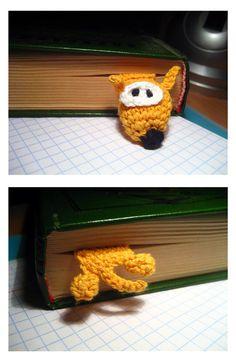 Crochet dog bookmark - free pattern (russ) http://www.liveinternet.ru/users/3882979/post137281454/