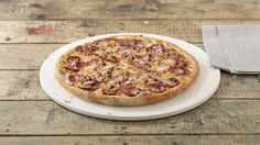 Pizza «T.Rex» – Tomato sauce, Mozzarella, Ham, Pepperoni (salami), Beef – Sizes: S - 25cm, M - 30cm, L - 35cm Mozzarella, Menu, Hama, Pizza, Menu Board Design