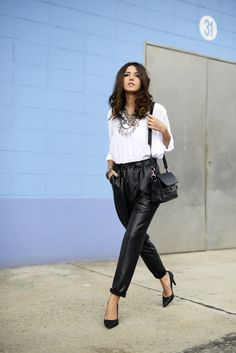 Glam Faux Leather Pants