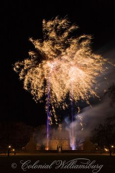 Grand Illumination Fireworks start the Christmas Season celebration at the Governor's Palace, Colonial Williamsburg. Photo by Tom Green