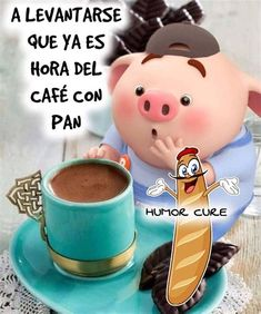Funny Good Morning Quotes, Good Morning Messages, Morning Humor, Happy Birthday Pig, Cute Piglets, Funny Emoticons, Bible Study For Kids, Morning Thoughts, Little Pigs