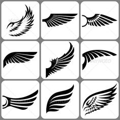 Wings Set  #GraphicRiver