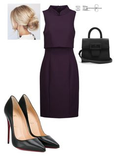 """Work"" by cgraham1 on Polyvore featuring Badgley Mischka, Christian Louboutin, Maison Margiela and Miadora"