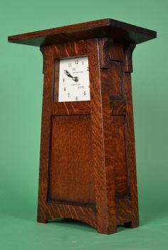 Mission Oak arts and Crafts Clock Craftsman Clocks, Craftsman Furniture, Craftsman Style, Craftsman Homes, Mission Style Furniture, Art Nouveau Furniture, Arts And Crafts Furniture, Furniture Ideas, Old Clocks