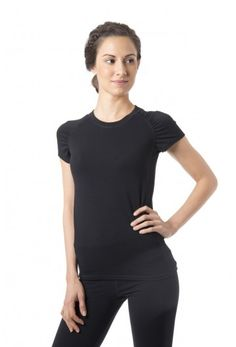 Zest SS T - Women's running and workout shirt in black