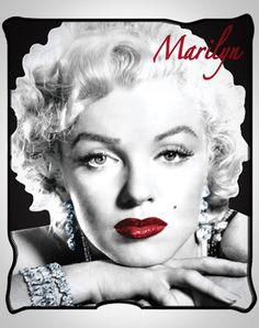 Marilyn Monroe Red Lips Fleece Blanket  Mama's girl is begging for this! :)