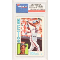 Darryl Strawberry New York Mets 1985 Topps Rookie #182 Card - $14.99