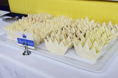 such cute sandwiches! for a prince or princess party use pink bread