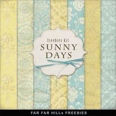 Far Far Hill: New Freebies Kit of Background - Sunny Days