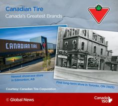 Canadian Tire is a Great Canadian Brand in our books. Showcase Store, Canada 150, Canadian Tire, Global News, Toronto, All About Time, Abs, Books, Crunches