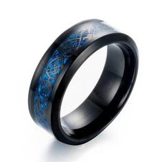 Cheap dragon ring, Buy Quality stainless steel ring directly from China ring for Suppliers: eejart Black Stainless steel Ring Wedding Band blue Carbon Fiber des Nibelungen Dragon rings for men Celtic Wedding Rings, Wedding Ring Bands, Celtic Rings, Ivar Le Désossé, Blue Rings, Silver Rings, Dragon Ring, Titanium Ring, Stainless Steel Rings