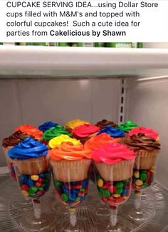 Use dollar store cups for cupcake serving