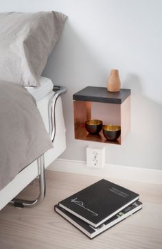Shelf for bedroom hall or livingroom. Made of solid by LightYellow