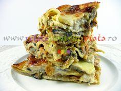 Reteta de lasagna cu legume, ciuperci proaspete si somon - o reteta de lasagna deosebit de gustoasa si aspectuoasa. Merita incercata! Lasagna, Paste, Pizza, Ethnic Recipes, Lasagne