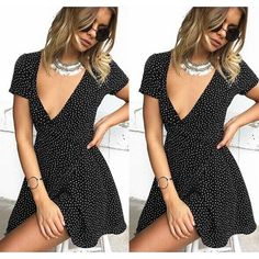 Polka Dot Printed Summer Sexy Women Short Sleeve Dress  #free #20% #shipping #off #everything