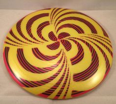 """buko_glass_and_disc_dyes from Instagram just made this awesome cystom dyed disc October 16 2015 at 08:32AM calling it """"Hypno Spin"""" GStar Mamba This is an attempt at something a bit different. Looks amazing spinning on my finger! #disc #discdye #discgolf #disclife #disclove #discgolfing #discgolfbaskets #discgolfshoutouts #discgolfeveryday #discgolfcollection #innova #innovadiscs #mamba #onenationunderpar #plasticaddict #pdga"""