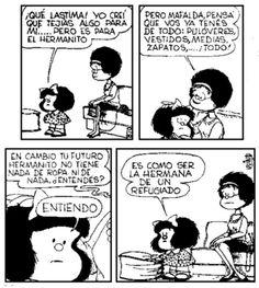 Mafalda Mafalda Comic, Mafalda Quotes, H Comic, Humor Grafico, Tim Burton, Comic Strips, Quotations, Manga, Geek Stuff