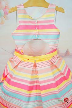 Vestido Infantil de Festa Listras Candy Petit Cherie Kids
