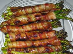 Twirl and Taste: Bacon Blanketed Asparagus Bundles are an easy appetizer and award-winning . . .served with Balsamic Dunking Sauce