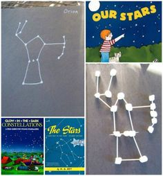 Learn about stars and constellations with some great books and hands-on activities -- like creating marshmallow constellations! #stem