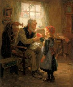 Mittens  by  Ralph Hedley (1848 – 1913, English)