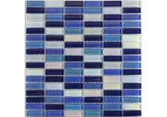 Reflective Blue Mix Glass Mosaic is made up of an elegant mixture of blue tones that would give a cool clean refreshing look to any bathroom, it can also be used as a Kitchen wall tile to add a splash of colour. Just £7.99 per sheet.
