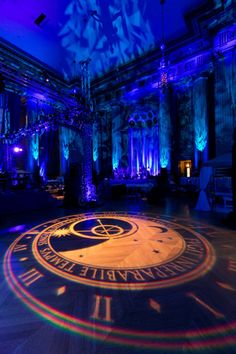 The event had extensive lighting design, including gobos and projections on the floor.
