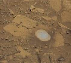 NASA's Curiosity Mars rover used the Dust Removal Tool on its robotic arm to brush aside reddish, more-oxidized dust, revealing a gray patch of less-oxidized rock material at a target called 'Bonanza King,' visible from the rover's Mastcam.
