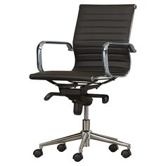 Eames desk chair knock off Used Office Chairs, Cheap Office Chairs, Best Office Chair, Cheap Chairs, Office Chair Without Wheels, Cheap Desk, Office Walls, Eames, Home Depot Adirondack Chairs