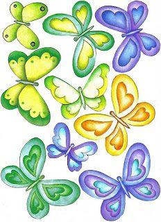 Pegatinas de mariposas para imprimir-Imagenes y dibujos para imprimir