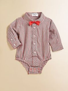 Hartstrings Infant's Plaid Bodysuit