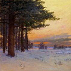 6 x 6 oil on copper panel by Mikel Wintermantel, Copley Master - Luminous Landscape Paintings