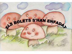 Conte els bolets s'han enfadat by marblocs via slideshare Fairy Tales, Activities, Autumn, Valencia, Tea, Books, Crafts, Storytelling, Preschool Learning Activities