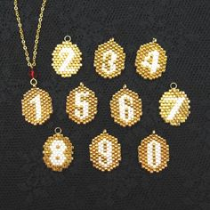 bead charms of numeric characters