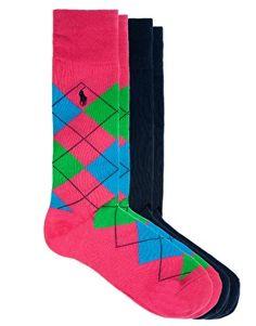 Изображение 1 из Комплект из 2‑х пар носков с ромбами PoloRalphLauren