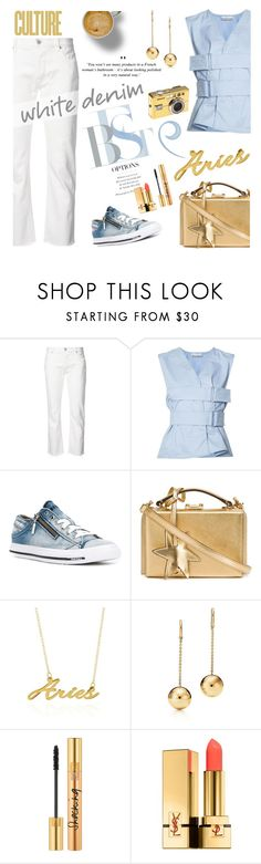 """Bright White: Summer Denim"" by lacas ❤ liked on Polyvore featuring By Terry, Nili Lotan, Paco Rabanne, Diesel, Mark Cross, Belk & Co., Yves Saint Laurent, denim and whitejeans"