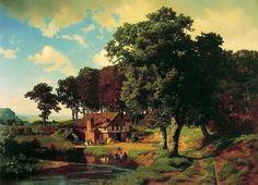new to site Bierstadt Albert-A_Rustic_Mill1855