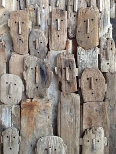 Driftwood sculptures by Marc Boulier
