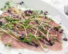 Carpaccio de thon au gingembre et sauce soja