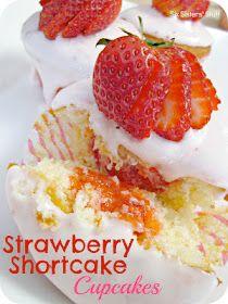 Six Sisters' Stuff: Strawberry Shortcake Cupcakes Recipe