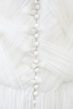 Tulle is on my dress! I like the buttons and how tulle makes everything so princessy. All White, Pure White, White Light, White Tulle, White Dress, White Satin, White Lace, Turks And Caicos Wedding, Blanco White