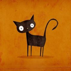 cat art - simple fall background?