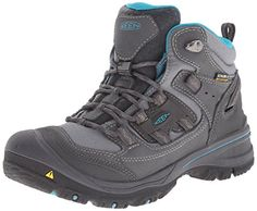 KEEN Women's Logan Mid Hiking Boot, Magnet/Capri Breeze, 10 M US. Synthetic and mesh lightweight upper^Smart lace plate for pressure distribution^Contoured heel lock for adjustable ankle support^KEEN. Dry waterproof, breathable membrane^Removable metatomical dual density foot bed.